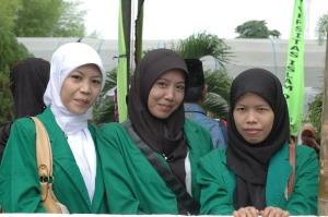 Mahasiswi Perikanan '07 UNISKI datang menghadiri acara